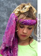 Young Girl as a Hippie