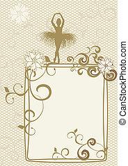 gold ballerin frame
