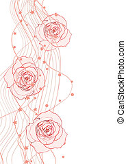 white red vector illustration of roses bright and romance
