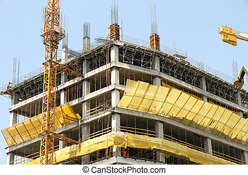 Construction site of a Skyscraper in Santiago de Chile - A...