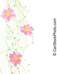 vector flower green corner on white backdrop - vector flower...
