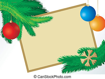 vector christmas fir picture