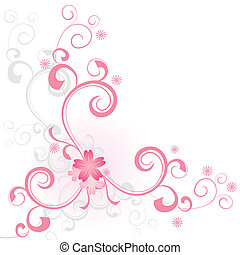 vector pink flower vector background