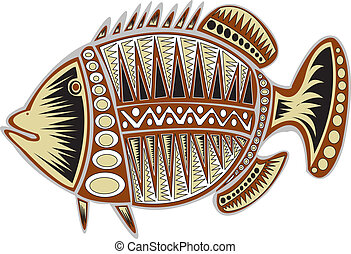 Tribal fish. - A tribal fish design.