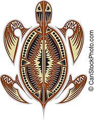 Tribal tortoise - A tribal tortoise design.