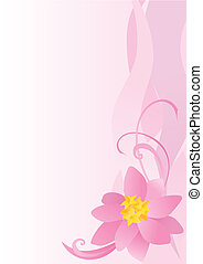 pink flower abstract background vector image