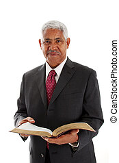 Pastor - Minority pastor set on a white background