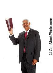 Pastor - Minority pastor set on a white background