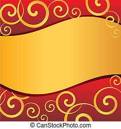 red gold blank