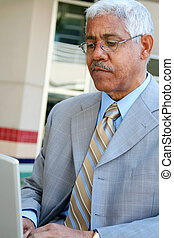 Businessman on Computer