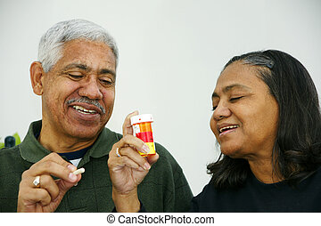 Medications - People getting ready to take their pills