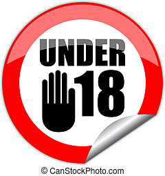 Vector under eighteen sign - Under eighteen vector sign...