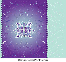 Greeting Cards Abstract Butterfly - Illustration vector...