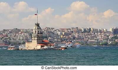 Maidens Tower - Istanbul Maiden Tower in Summer