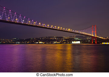 Bosphorus Bridge 2 - Bosphorus Bridge at the night istanbul...