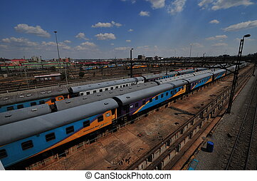 Colorful Trainyard, Newtown, Johann - The colorful trainyard...
