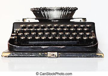 ancient portable typewriter