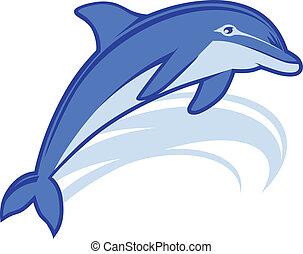 delfin, maskottchen