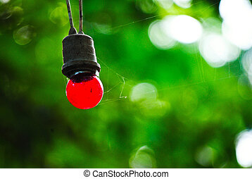 Red round shaped lamp