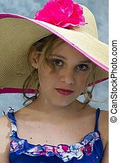 Young Teen in Hat