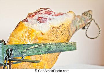 Pata Negra - Jamón ibérico; Iberian ham, also called pata...