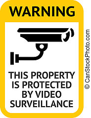 Notice Video Surveillance label