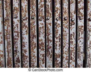 rust on steel doors