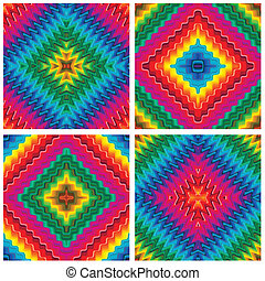 Set of vector pop art textures