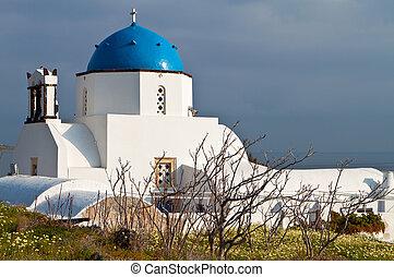 Church at Santorini in Greece