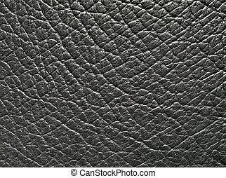 Black leather texture - Close-up of black leather texture