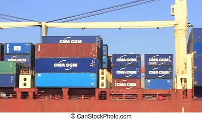 Container Ship - Container ship full of containers