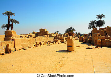 ancient karnak temple in Egypt