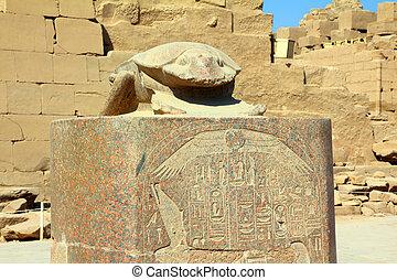 egypt scarabaeus monument in karnak temple