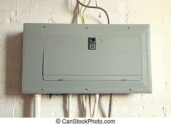 Electrical Panel - An electrical panel in a house