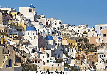Santorini island in Greece - Typical village of the Cyclades...