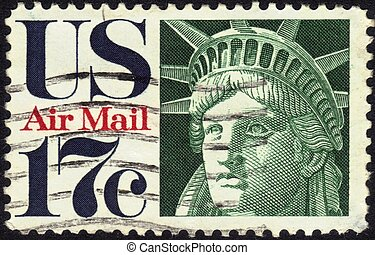stamp Statue of Liberty 17 c - UNITED STATES - CIRCA 1960s :...
