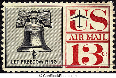 Stamp Let Freedom Ring 13c - UNITED STATES - CIRCA 1959's :...