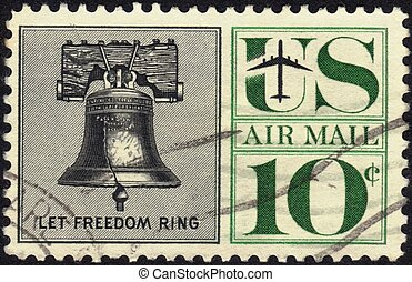 Stamp Let Freedom Ring 10c - UNITED STATES - CIRCA 1959's :...