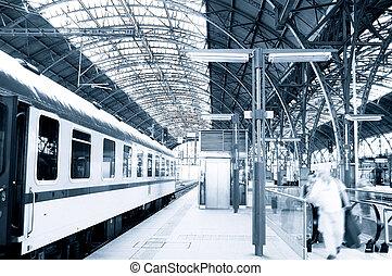 Järnväg,  station