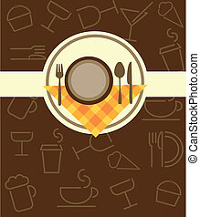 menu template for restaurant or coffee bar