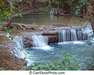 Huay Mae Kamin Waterfall - Fourth level of Huay Mae Kamin...