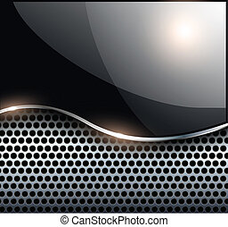 Abstract background elegant black metallic, vector...