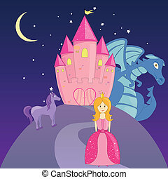 Vector Fairytale - Vector illustration of different...