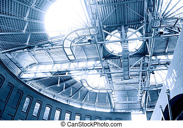 Roof construction. - Picture of steel roof construction.