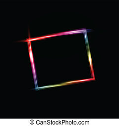 Neon style frame