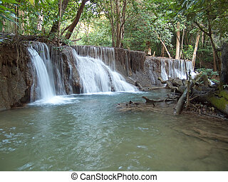 Huay Mae Kamin Waterfal - Seventh level of Huay Mae Kamin...