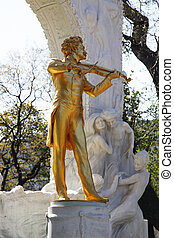 Johann Strauss Monument Vienna - the Johann Strauss Monument...
