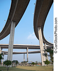 Parallel expressway with Intersection and grade separation...