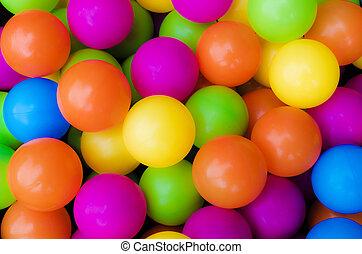Colourful Balls - Bright colourful plastic balls