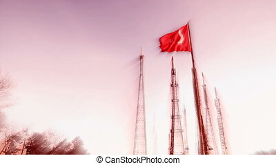 Turkish Flag in red
